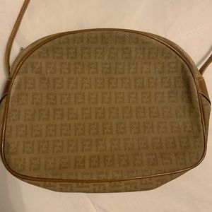 Fendi authentic small zucca shoulder bag